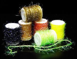 Veniard UV Straggle Chenille Standard & Extra Fine. Fine fibres with UV Flash.