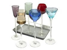 Artland Long Stem Liqueur Set Coloured Glass, 7 Piece