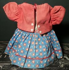 UNIQUE! Antique Multicolored DRESS W Built in JACKET for COMPOSITION BABY DOLL