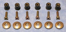 DUCATI 900SS/750/BRONZ FAIRING CUP WASHERS/RUBBER NUTS /GOLD  BOLTS/ORIGINALS /6