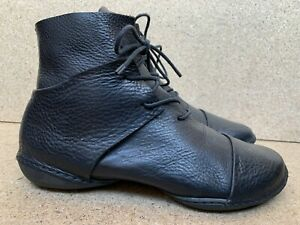 Trippen Ankle Women's Leather Shoes Black Booties Ankle Sz 38 / 7 US