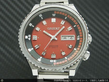 Orient King Diver Day Date Red Dial Used Automatic Authentic Mens Watch Japan