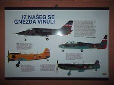 Yugoslavia JNA army planes poster