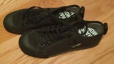 ADIDAS x RAF SIMONS Spirit Black on black canvas sneakers men size 6.5 Euro 39