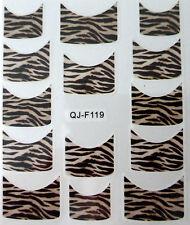 Accessoire ongles : nail art - Stickers décalcomanie - motifs tigre