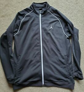 Air Jordan Jumpman Full Zip Track Jacket black/white  men's size XL