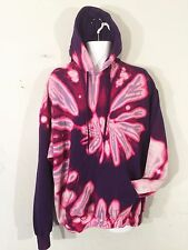 Tie Dye Hoody hooded Hoodie top festival music 2XL XXL nineties retro purple