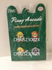 Pinny Arcade Legend of Zelda Link's Awakening Pin Set Marin Link Hylian Shield