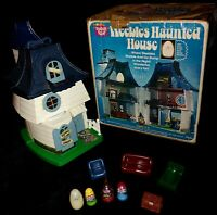 RARE 1976 Vintage Weebles Haunted House COMPLETE w/box witch ghost HalloweenEUC