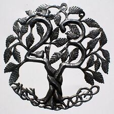 Metal Tree of Life Wall Art Metal Haitian Crafts Outdoor Hanging Home Decor 24""