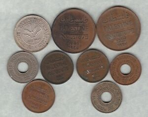 NINE PALESTINE 1927 TO 1945 IN GOOD FINE OR BETTER CONDITION