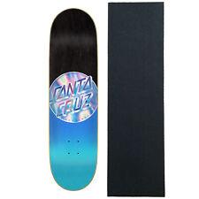 "Santa Cruz Skateboard Deck Iridescent Dot 8.5"" x 32.2"" with Griptape"