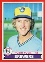 1979 Topps #95 Robin Yount EX-EXMINT Hall of Fame Milwaukee Brewers FREE SHIP