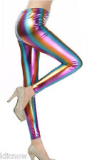 Womens Rainbow Pattern (Shiny) Stretch Leggings