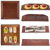 Wooden Serving Plate Dumplings Sushi Dish Plate Wood Coffee Tea Serving Tray