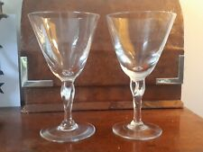 Pair of Handmade Wine or Cocktail Glasses