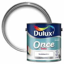 Dulux 2.5L Once Gloss Brilliant White For Wood And Metal Interior Exterior Cheap