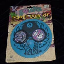 Vtg 90's Pogs UPPER STAHK Kit Bone Head 8 Ball Pad Slammer 5 Caps Container NIP