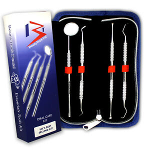 4PC Dental kit Cleaning Tool Set Tartar Calculus Remover Teeth Whitening Scraper