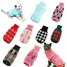 Pet Dog Warm Jumper Clothes Puppy Knitted Knitwear Sweaters Costume Apparel Coat