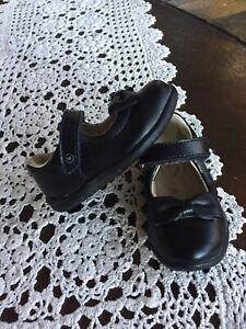 Stride Rite Daniela Black Hook-and-Loop Black Shoe  Size  US 5M