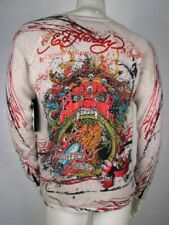 Ed Hardy Sweater Rare Collector's Item Studded Three Eyed Monster Knit, XL