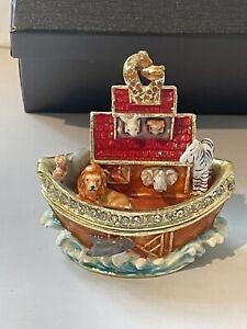 Noah's Ark trinket box Treasured Trinkets by Juliana Jewelled Enamel