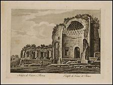 1818c.Inc/Rame.ROMA:Tempio di VENERE e ROMA. par NIBBY - Parboni-Ruga.