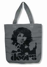 "THE DOORS ""LIGHT MY FIRE"" GREY TOTE BAG NEW OFFICIAL JIM MORRISON BAND"