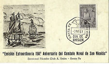ARGENTINA 2 Mar1961 150th ANNIVERSARY OF THE NAVAL BATTLE OF SAN NICOLAS COVER
