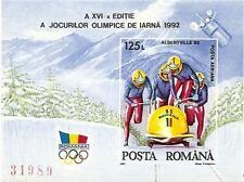 ROMANIA 1992 SPORTOLYMPIC ALBERTVILLE SC # 3722 MNH