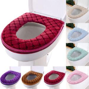 Bathroom Toilet Seat Cover Closestool Washable Soft Mat Pad Lid Cushion Cover
