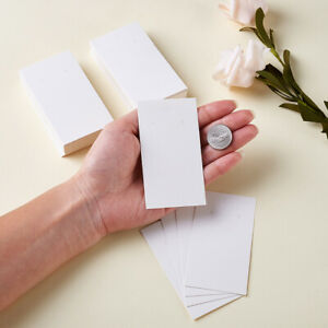 100pcs Paper Earring Card Jewelry Display Card Holder Three Holes White 90x50mm