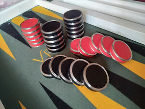 Individual Metal / Resin / Leather Checkers for backgammon