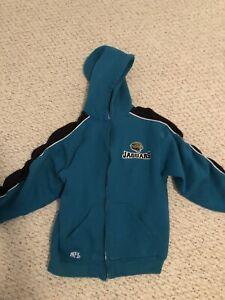 Vintage NFL Jacksonville Jaguars zip up hoodie. Kids Size Large 12/14