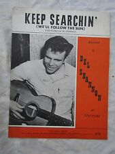 VINTAGE SHEET MUSIC DEL SHANNON KEEP SEARCHIN'