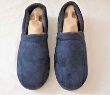 Marks and Spencer Mens Navy Textile Slippers  Slip-On  UK 12