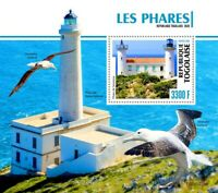 Togo Lighthouses Stamps 2020 MNH Senetosa Lighthouse Architecture Birds 1v S/S
