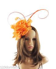 Orange Fascinator for Ascot, Weddings, Proms, Derby Q1