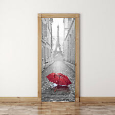 Fridge Door Sticker  PVC DIY Self Adhesive Wall Decal Sticker Eiffel Tower