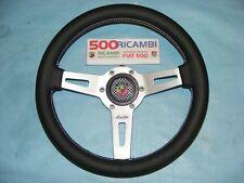 FIAT 500 F/L/R VOLANTE SPORTIVO IN PELLE LUISI SHARAV 31 mm + CLACSON 3D ABARTH