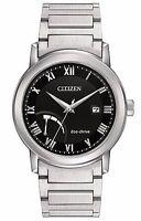 Citizen Eco-Drive Men's Silver-Tone Roman Numeral Indices 41mm Watch AW7020-51E