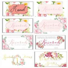 Boho Floral Personalised Chocolate Wrapper Gloss 4x6 to fit Aldi Bars