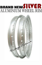 KAWASAKI KX125 KLX250 KDX175 1979-1982 ALUMINIUM (SILVER ) FRONT+REAR WHEEL RIM