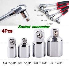 """Hot 4pcs 1/2"""" 3/8"""" 1/4"""" Socket Ratchet Converter Reducers Adaptors Tool Set New"""