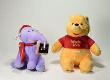 "2 Peluche Disney originali ""Winnie the Pooh"" 27cm+""Lumpy""elefantino soft toy-0UD"
