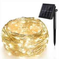 100 LED Outdoor Solar String Lights Copper Wire Fairy Light Garden Home Decor