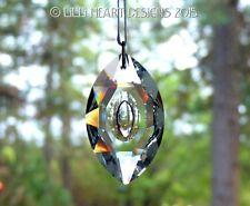 Big Crystal CAT'S EYE Clear 76mm Suncatcher Ready to Hang Lilli Heart Designs