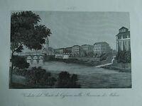 1845 Zuccagni-Orlandini Veduta del Ponte di Cassano nella Provincia di Milano