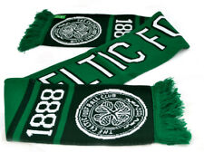 Celtic FC Football Club Green White Nero Knitted Scarf Badge Fan Gift Official
